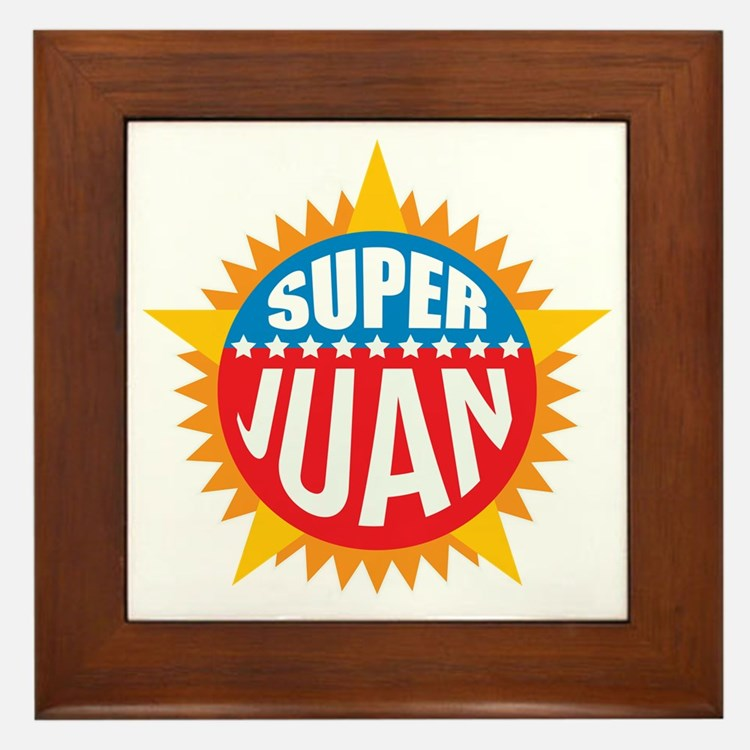 Super Juan Framed Tile