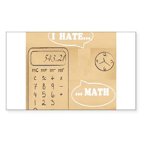 I hate math Sticker