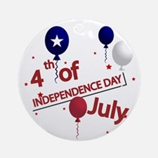 4th of July Ornament (Round)