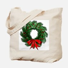 Wreath and Bow Tote Bag