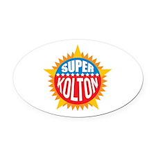 Super Kolton Oval Car Magnet