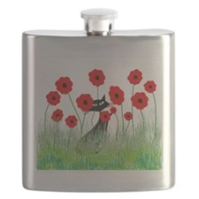 Whimsical Cat Flask