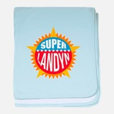 Super Landyn baby blanket