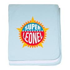 Super Leonel baby blanket