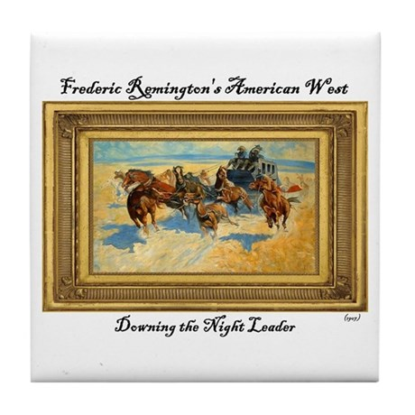Downing the Night Leader Tile Coaster by HistoricARTandPHOTOGRAPHS