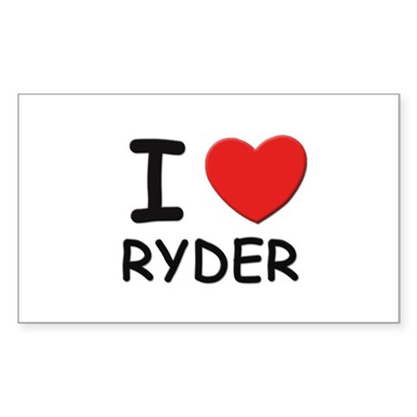 I love Ryder Rectangle Sticker