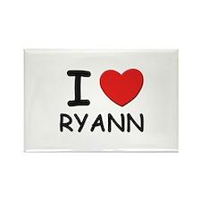 I love Ryann Rectangle Magnet