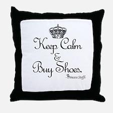 Keep Calm & Buy Shoes Throw Pillow