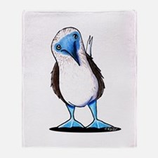 Blue Footed Booby Throw Blanket