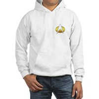 Star Trek Insignia Badge Chest Hooded Sweatshirt