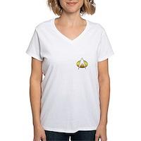 Star Trek Insignia Badge Chest Women's V-Neck T-Sh