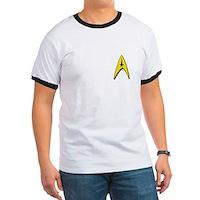Star Trek Captains Badge Chest Ringer T
