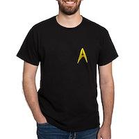 Star Trek Captains Badge Chest Dark T-Shirt
