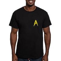 Star Trek Captains Badge Chest Men's Fitted T-Shir
