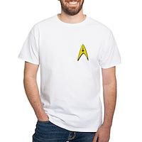 Star Trek Captains Badge Chest White T-Shirt
