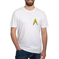 Star Trek Captains Badge Chest Fitted T-Shirt