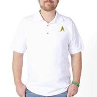 Star Trek Captains Badge Chest Golf Shirt