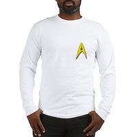 Star Trek Captains Badge Chest Long Sleeve T-Shirt