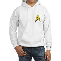 Star Trek Captains Badge Chest Hooded Sweatshirt