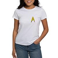 Star Trek Captains Badge Chest Women's T-Shirt