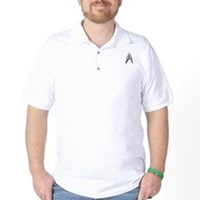 Star Trek Engineer Badge Chest Golf Shirt