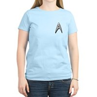 Star Trek Engineer Badge Chest Women's Light T-Shi