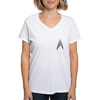 Star Trek Engineer Badge Chest Women's V-Neck T-Sh
