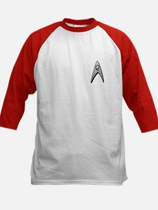 Star Trek Engineer Badge Chest Kids Baseball Jerse
