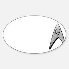 Star Trek Engineer Badge Chest Sticker (Oval)