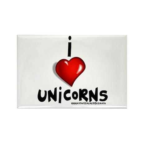 I Love Unicorns Rectangle Magnet