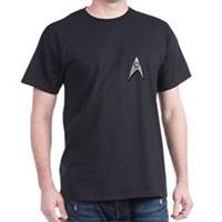 Star Trek Science Badge Chest Dark T-Shirt