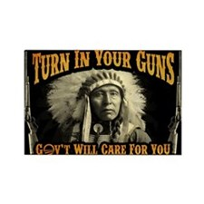 Turn In Your Guns Rectangle Magnet