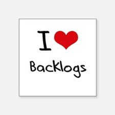 I Love Backlogs Sticker