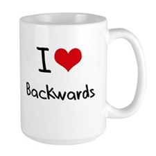 I Love Backwards Mug
