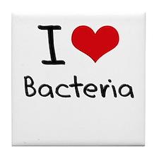 I Love Bacteria Tile Coaster