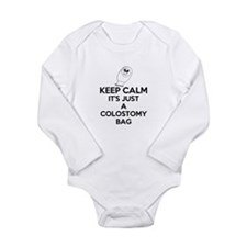 Keep Calm Its Just A Colostomy Bag White Body Suit