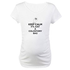Keep Calm Its Just A Colostomy Bag White Shirt