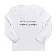 Stoma Baby - Nappies Are For Wimps Long Sleeve T-S