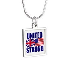 United Strong Silver Square Necklace