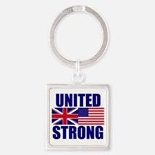 United Strong Square Keychain
