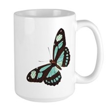 Blue Butterfly Ceramic Mugs