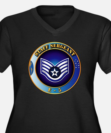 Staff Sergeant (SSgt) Women's Plus Size V-Neck Dar