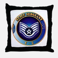 Staff Sergeant (SSgt) Throw Pillow