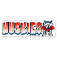 Huskies Football Bumper Bumper Sticker