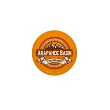 Arapahoe Basin Tangerine Mini Button