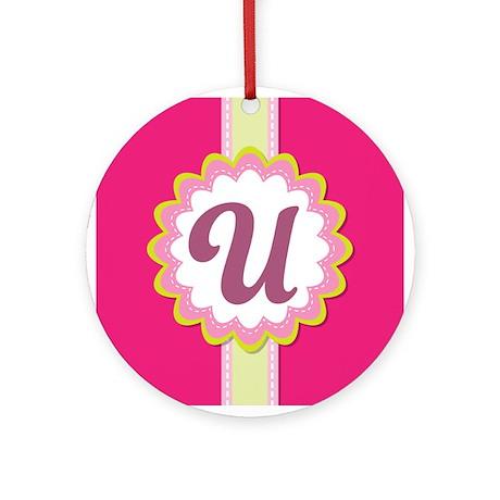 Pink Wheelie Bin Letter U - Bespoke Wheelie Bin Numbers ... |The Letter U In Pink