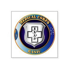 "Medical Corps - Basic Square Sticker 3"" x 3"""