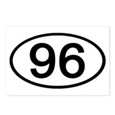 Number 96 Oval Postcards (Package of 8)