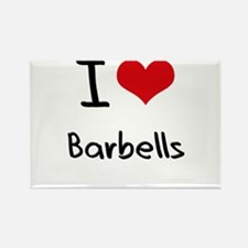 I Love Barbells Rectangle Magnet