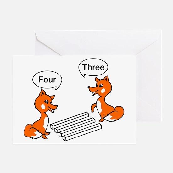 Optical illusion Trick Greeting Card